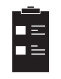 Black and white medical chart icon vector isolated white background. Stock Photos