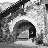 Black and White.Medieval fortified saxon church in Calnic, Transylvania Royalty Free Stock Photo