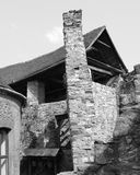 Black and White. Medieval fortified saxon church in Calnic, Transylvania Royalty Free Stock Photos