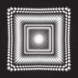 Black-and-white mehrany gradient vector picture. royalty free illustration
