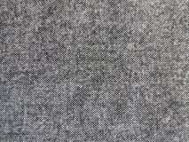 Black and white melange wool fabric texture, canvas background stock photo