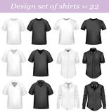 Black, and white men polo and t-shirts. Stock Photo