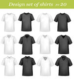 Black, and white men polo and t-shirts. Royalty Free Stock Image