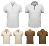 Black and white men t-shirts. Stock Photo