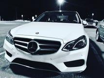Black and White Mercedes Benz. A shot of a Mercedes Benz E258 in Antigonish,Nova Stock Images