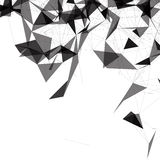 Black and White Mesh Vector Background | EPS10 Design Stock Photo