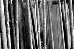 Black and White Metal Bars. Rusty metal bars in black and white Royalty Free Stock Photos