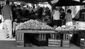 Black and white mexican market Stock Photography