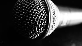 Black and white mic Royalty Free Stock Photography