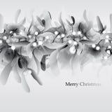 Black-and-white Mistletoe vector illustration