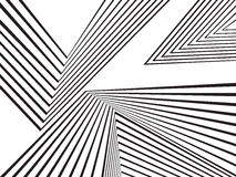 Black and white mobious wave stripe optical abstract design Stock Images