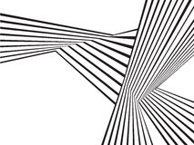 Black and white mobious wave stripe optical abstract design vector illustration