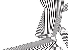 Black and white mobious wave stripe optical abstract design royalty free illustration