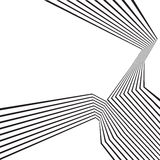 Black and white mobious wave stripe optical abstract design Royalty Free Stock Photo