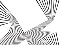 Black and white mobious wave stripe optical abstract design Royalty Free Stock Image