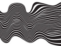 Black and white mobious wave stripe optical background Royalty Free Stock Photography