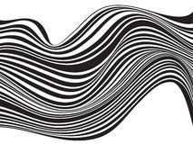 Black and white mobious wave stripe optical design Royalty Free Stock Photos