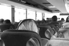 Black And White, Mode Of Transport, Passenger, Photography Stock Image