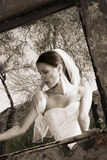 Black and White Modern Bride Stock Photos