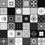 Black and white modern ceramic tiles Royalty Free Stock Image