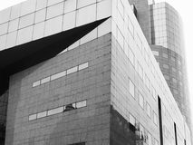 Black and white modern glass detail building Royalty Free Stock Photos