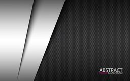 Black and white modern material design with polygon background, corporate template for your business. Vector abstract widescreen background royalty free illustration