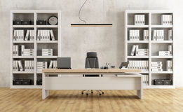 Black and white modern office Royalty Free Stock Image