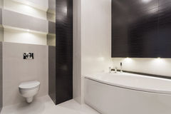 Black and white modern restroom Stock Photos
