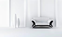 Black and white modern style sofa Royalty Free Stock Photo