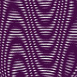 Black and white moire lines, striped  psychedelic background. Royalty Free Stock Photography