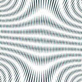 Black and white moire lines, vector striped  psychedelic backgro Royalty Free Stock Photography