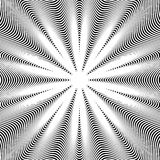 Black and white moire lines, vector striped  psychedelic backgro Royalty Free Stock Image