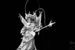 """Black and white moment- Beijing Opera"""" Women Generals of Yang Family"""". This opera tells a patriotic story how does an old woman of a hundred years Royalty Free Stock Photos"""