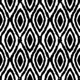 Black and white monochrome background. Vector hand drawn seamless pattern Stock Images