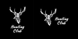 Black and white monochrome emblem, symbol, logotype Stock Images