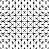 Black And White Monochrome Flowers Graphic Pattern Royalty Free Stock Photography