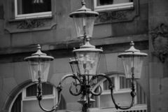 Black And White, Monochrome Photography, Light Fixture, Photography royalty free stock photo