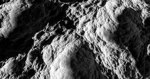 Black and white moon surface 3d rendering Stock Photography