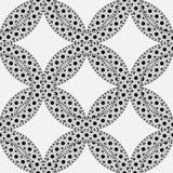 Black, white moroccan ethnic pattern. Seamless pattern with abstract arabesque, mandala, sun, star. Stock Image