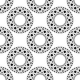 Black, white moroccan ethnic pattern. Seamless pattern with abstract arabesque, mandala, sun, star. Stock Photo