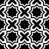 Black and white moroccan tiles seamless pattern, vector Stock Photography