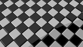 Black and white mosaic with round shadow Royalty Free Stock Photos