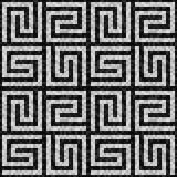 Black and white mosaic seamless pattern in antique roman style. Vector illustration - eps 10 royalty free illustration