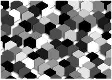 Black and white mosaic tiles background Stock Image