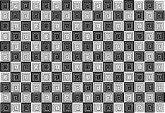 Black and white mosaic tiles background Royalty Free Stock Photos