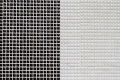 Black and white  mosaic tiles Stock Image