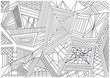 Black and white mosaic tiles wallpaper. Black and white illustration of mosaic tiles and lines vector illustration