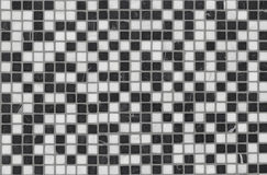 Black and white mosaic wall Royalty Free Stock Images