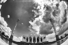 Black and white mosque Stock Photography