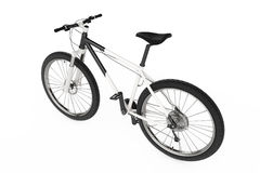 Black and White Mountain Bike. 3d Rendering Royalty Free Stock Images